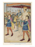 The Emperor Walks Naked Through the Crowd of Citizens Under a Canopy Held up by Pages Giclee Print by Monro S. Orr