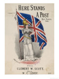 An Armour-Clad Britannia with a Large Union Flag Giclee Print by W.c. Levey