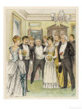 Anticipation: The Couple are Congratulated Upon Their Engagement Giclee Print by Lucien Besche 
