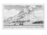 Striking Engraving of the Eruption of 1669 Giclee Print by J. Hulett