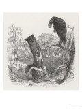 The Fox and the Crow Reproduction procédé giclée par J.J. Grandville