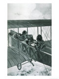 Plane with Telegraph Giclee Print by Vincent Lynch