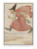The Witch Goes an Hour's Walk with Every Stride Giclee Print by Monro S. Orr