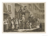 Passengers and Their Luggage are Packed into a Stage Coach in a Country Inn Yard Giclee Print by William Hogarth