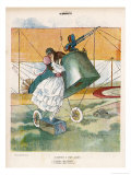 The Aviator Bids Adieu to His Girl Gicl&#233;e-Druck von Louis Icart