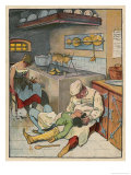 Everyone in the Palace Falls into a Deep Sleep Including the Kitchen Staff Giclee Print by Willy Planck