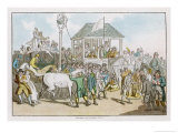 Weighing the Jockeys and Rubbing Down the Horses Before a Race Giclee Print by Thomas Rowlandson