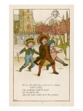 We're All Jolly Boys Giclee Print by Kate Greenaway