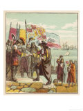 William Prince of Orange Lands at Torbay and is Greeted as the Future King William III Giclee Print by Joseph Kronheim