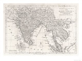 India and Its Neighbours: Note That Burma is Named India Beyond the Ganges Giclee Print