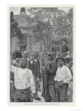 Rioters Evacuate the State House at Little Rock Ark Giclee Print by Howard Pyle