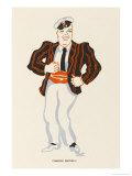 Charles Bignell Music Hall Entertainer Giclee Print by Elizabeth Pyke