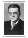 Dmitry Dmitriyevich Shostakovich Russian Composer Giclée-Druck