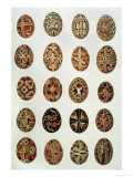 Decorated Eggs from Ukraine Reproduction procédé giclée