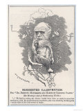 Charles Darwin, Depicted as a Tree-Climbing Anthropoid Giclee Print