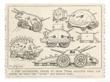 Selection of Tanks Shaped Like Animals Giclee Print by Percy T. Reynolds