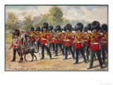 The Band of the Irish Guards March Through Hyde Park Giclee Print by Harry Payne