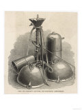 His Air Pump and Vacuum Apparatus Including the Famous Magdeburg Hemispheres Giclee Print