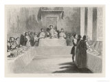 Windsor Castle Henry VIII Enjoys a Grand Banquet in St. George's Hall Reproduction procédé giclée par Tony Johannot