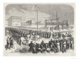 At Mancato Minnesota 38 Sioux are Hanged for Crimes Against the Government Giclee Print by Smeeton