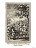 Boadicea (Aka Boudicca) Queen of the Iceni in Her Chariot Giclee Print