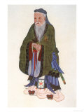 Confucius Known Also as: K'Ung Ch'Iu Chinese Philosopher Lámina giclée