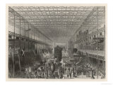 The Nave of the Great Exhibition Looking West Giclee Print by T. Sherrat