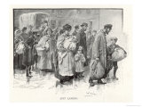 "Russian Jews ""Just Landed"" in England Giclee Print by W. Raingy"