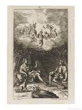 Mopsus and Menalcas Sing Praises of Daphnis Giclee Print by Michael van der Gucht