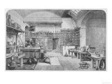 Michael Faraday, English Scientist at Work in His Laboratory Giclee Print