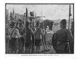 Before the Battle King Robert de Bruce VIII Reviews the Scottish Army Giclee Print