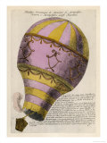 The First Passenger-Carrying Flight is Made by a Hot-Air Balloon Giclee Print
