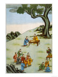 Confucius Chinese Philosopher He Starts a School Giclee Print