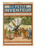 Mouchot&#39;s Solar-Powered Motor Reproduction proc&#233;d&#233; gicl&#233;e