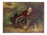 Ludwig Van Beethoven Beethoven Sitting in Some Woods Giclee Print