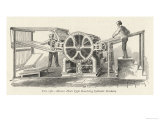 Hoe&#39;s Type Revolving Cylinder Printing Machine Giclee Print