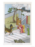 Confucius Chinese Philosopher His Birth is Heralded by a Mysterious Unicorn Giclee Print