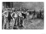 Stokers Wait on the Deck Hoping to Board Lifeboats Giclee Print