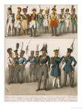 French and Prussian Soldiers Giclee Print
