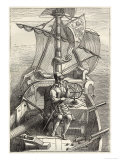 Ferdinand Magellan (Fernao de Magalhaes) Portuguese Navigator on the Deck of His Caravel Giclee Print