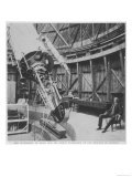 Professor Percival Lowell in the Observatory He Built at Flagstaff Arizona Giclee Print
