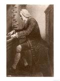 Johann Sebastian Bach German Organist and Composer at the Keyboard Impression giclée