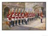 Parade of the First Life Guards in Whitehall Giclee Print by Harry Payne