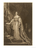 Queen Victoria at Her Coronation Giclee Print