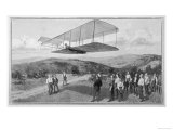 Orville and Wilbur Wright Test Unpowered Gliders Against the Wind at Kitty Hawk Giclee Print