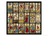 Tarot Selection from the Traditional Marseille Pack Giclee Print