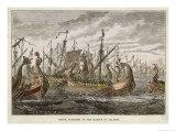 At Salamis the Greek Fleet Defeats the Persian Fleet Giclee Print