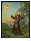 Francesco (Francis) di Assisi Receives the Stigmata Giclee Print