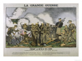British Brew Tea While Under Fire on the Aisne Meanwhile Someone Plays the Bagpipes Giclee Print