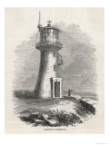 Hartlepool Lighthouse -Man with Telescope Scans the Horizon Giclee Print